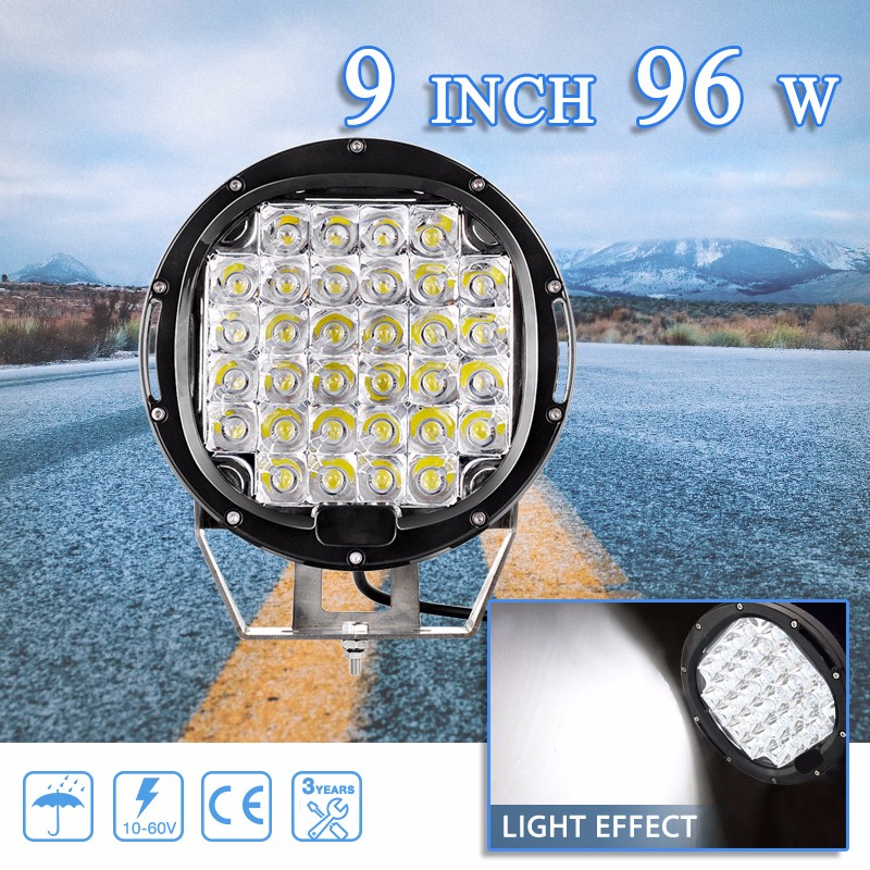 24V DC 9 Inch Auto Lighting 96W Smart Electrician LED Work Light