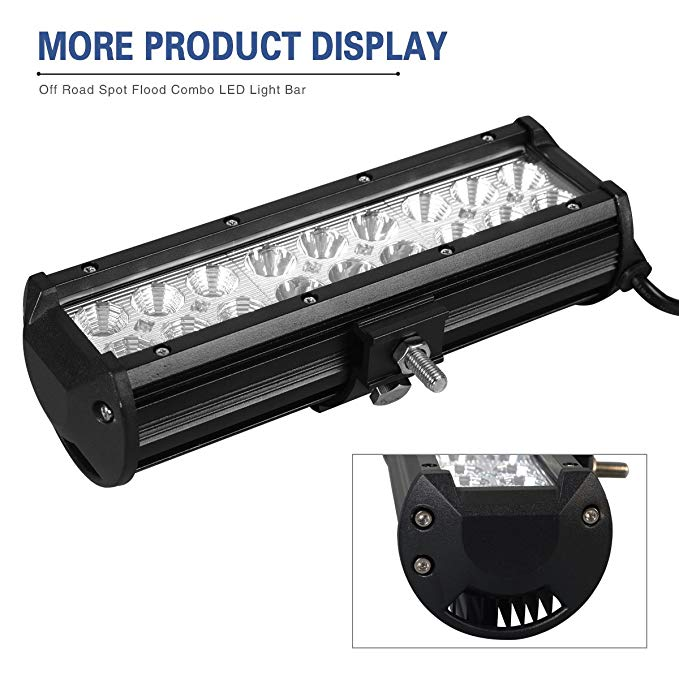 "54w 9inch 9""2 ge 2bronco 2 color led light bar"