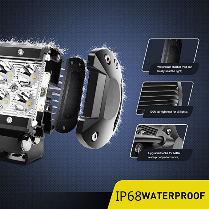 18w 2row led light bar cherokee xj evo x evo x